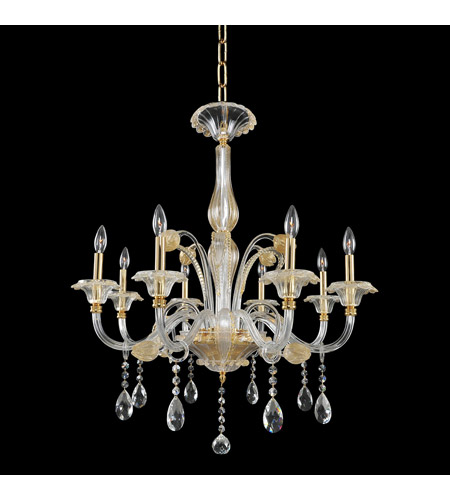 Allegri 029151-024-FR001 La Rosa 8 Light 32 inch 24K Gold Chandelier Ceiling Light photo