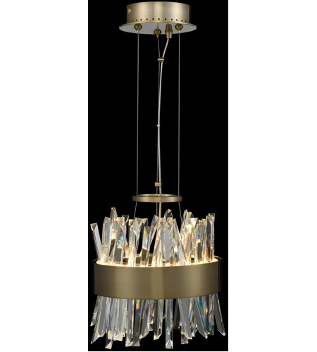 Allegri 030210 038 Glacier Led 10 Inch Brushed Champagne Gold Mini Pendant Ceiling Light Photo