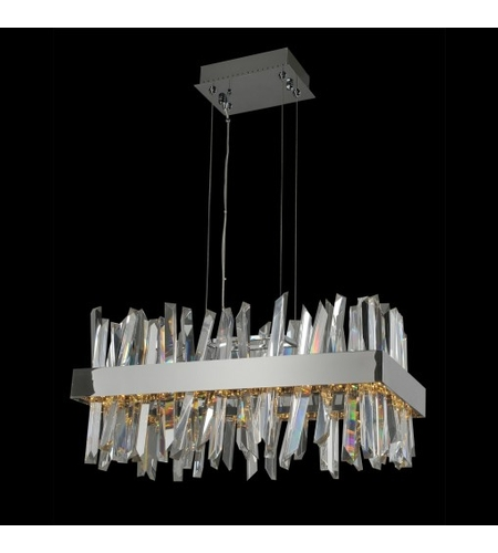 Allegri 030251-010 Glacier 26 inch Polished Chrome Island Light Ceiling Light photo