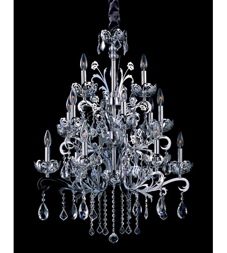 Allegri Salieri 6 Light Chandelier in Chrome with Firenze Clear Crystals 10037-010-FR001 photo