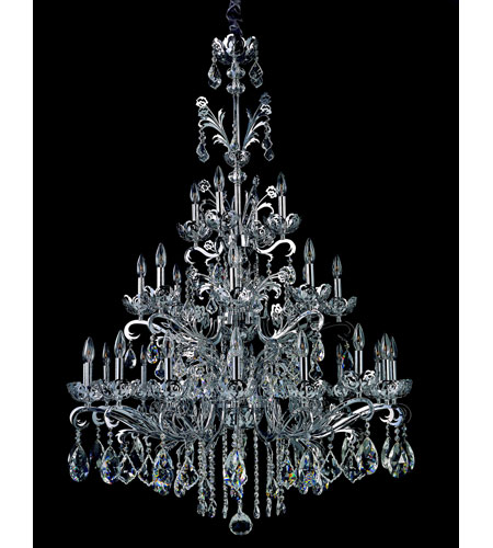 Allegri Salieri 28 Light Chandelier in Chrome with Firenze Clear Crystals 10038-010-FR001 photo