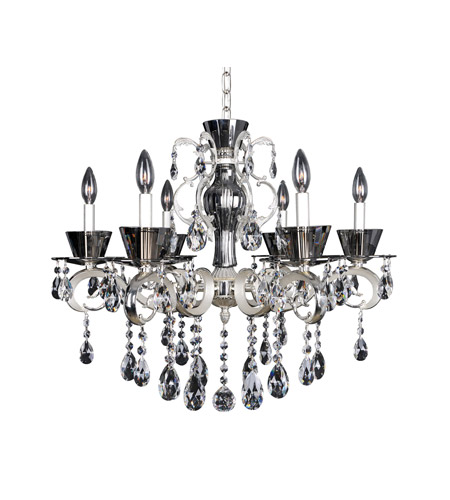 Allegri 10098-017-FR001 Locatelli 6 Light 29 inch Two-tone Silver Chandelier Ceiling Light in Firenze Clear photo