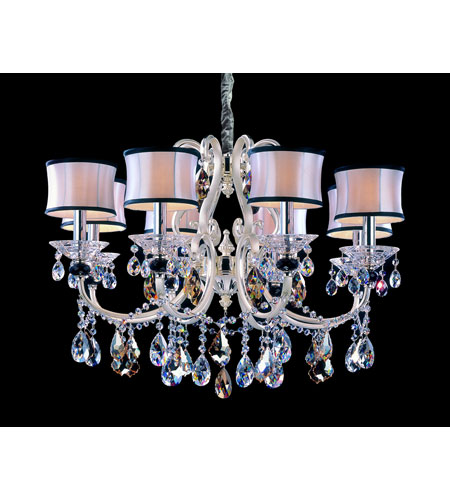 Allegri Bedetti 8 Light Chandelier in Two-tone Silver with Firenze Mixed Crystals 10169-017-FR000-SA132 photo