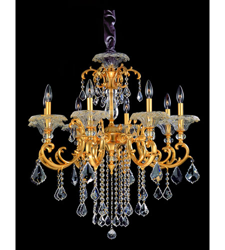 Allegri Praetorius 8 Light Chandelier in French Gold/24K with Firenze Clear Crystals 10216-011-FR001 photo