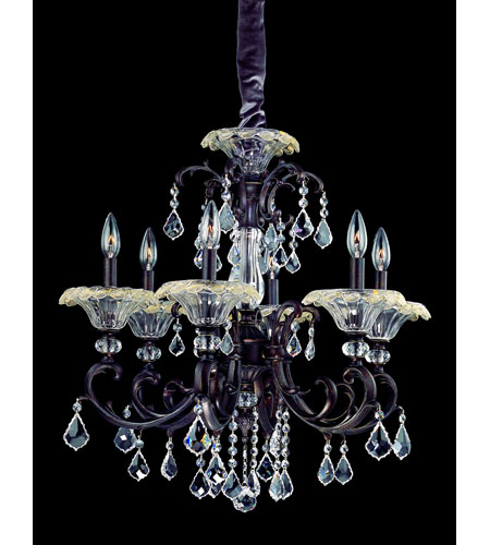 Allegri Praetorius 6 Light Chandelier in Sienna Bronze with Firenze Clear Crystals 10217-013-FR001 photo