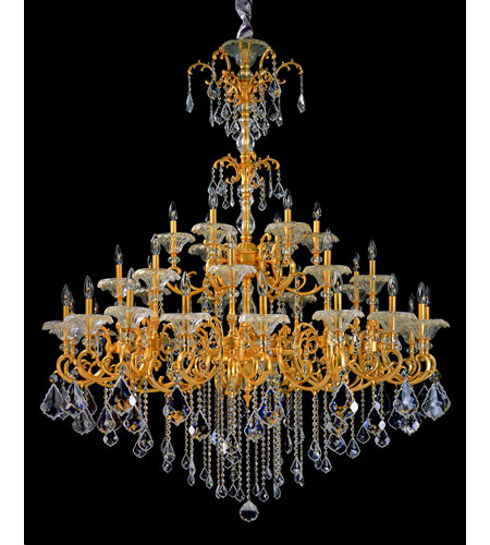 Allegri Praetorius 33 Light Chandelier in French Gold/24K with Firenze Clear Crystals 10219-011-FR001 photo