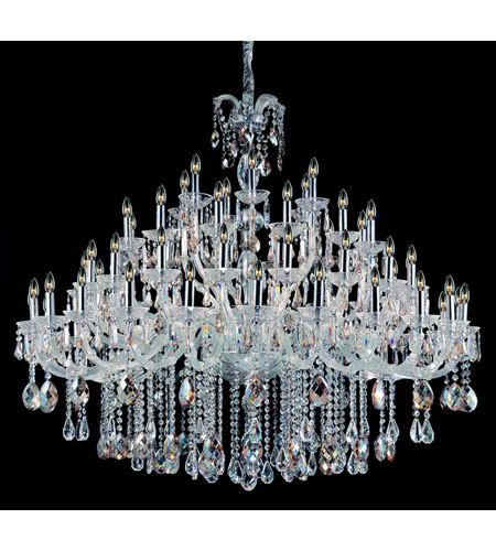 Allegri Giordano 60 Light Chandelier in Chrome with Firenze Mixed Crystals 10234-010-FR000 photo