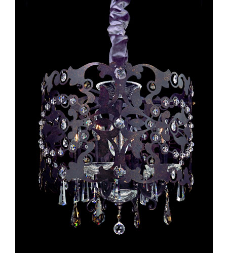 Allegri Bizet 4 Light Chandelier in Sienna Bronze with Swarovski Elements Golden Teak Crystals 10247-013-SE009 photo