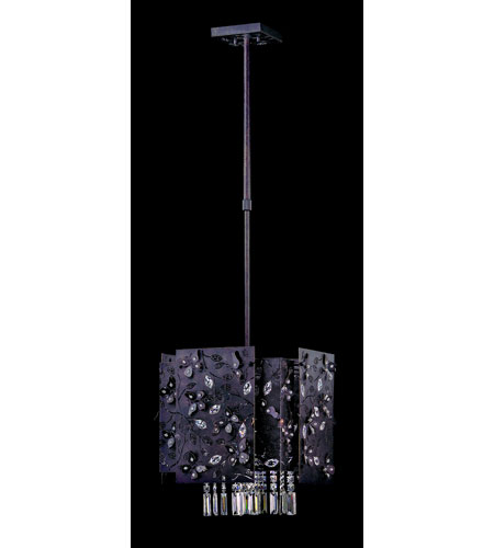 Allegri Franchetti 4 Light Pendant in Sienna Bronze with Swarovski Elements Clear Crystals 10277-013-SE001 photo