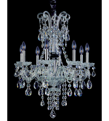 Allegri Signature 8 Light Chandelier in Chrome with Swarovski Elements Clear Crystals 10409-010-SE001 photo