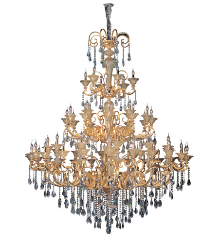 Allegri 10455-016-FR001 Legrenzi 66 Light 79 inch Two-tone Gold/24K Chandelier Ceiling Light in Firenze Clear photo