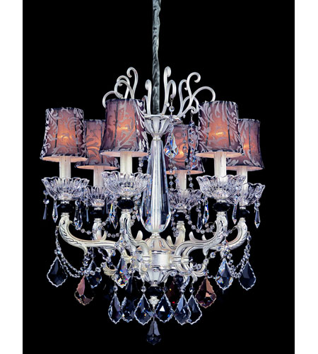 Allegri Campra 6 Light Chandelier in Two-tone Silver with Swarovski Elements Mixed Crystals 10465-017-SE000-SA100 photo