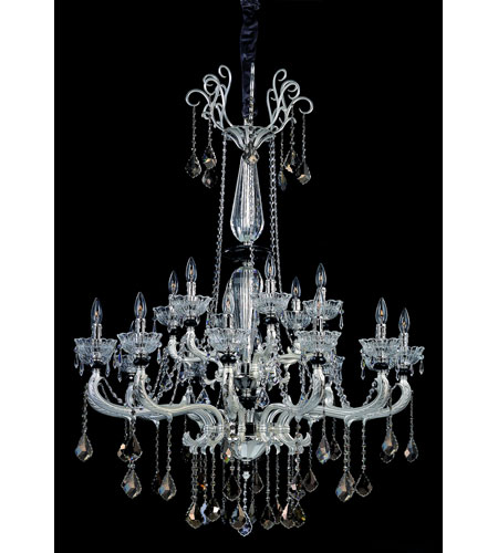 Allegri Campra 18 Light Chandelier in Two-tone Silver with Swarovski Elements Mixed Crystals 10469-017-SE000 photo
