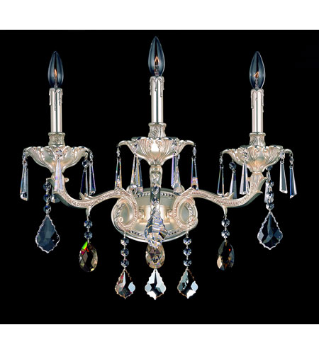 Allegri Marcello 3 Light Wall Bracket in Antique Silver with Swarovski Elements Mixed Crystals 10473-005-SE000 photo