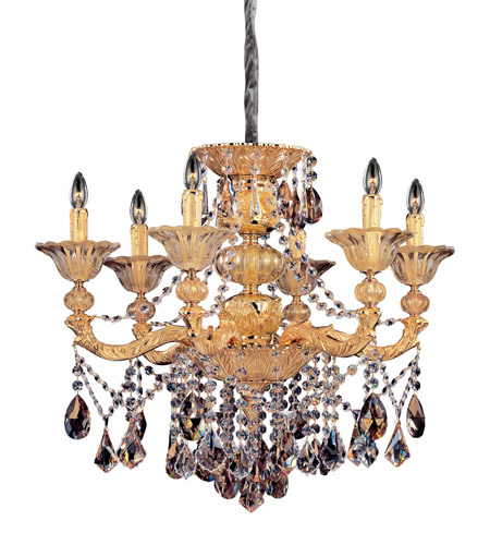 Allegri 10497-016-FR000 Mendelsshon 6 Light 29 inch Two-tone Gold/24K Chandelier Ceiling Light photo