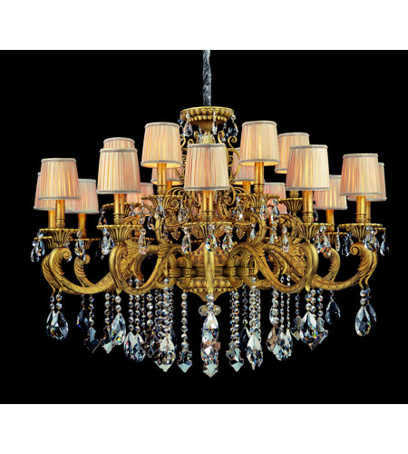 Allegri Auber 18 Light Chandelier in Aged Bronze with Firenze Mixed Crystals 10639-001-FR000-SA115 photo