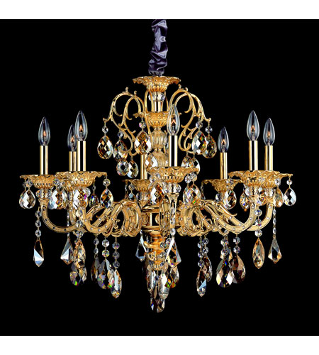 Allegri Vivaldi 8 Light Chandelier in Two-tone Gold/24K with Swarovski Elements Mixed Crystals 10684-016-SE000 photo