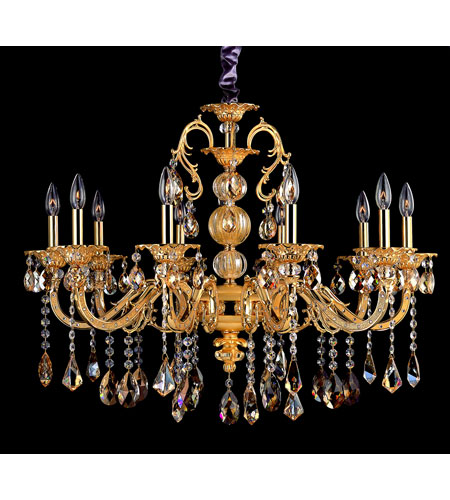 Allegri Vivaldi 10 Light Chandelier in Two-tone Gold/24K with Swarovski Elements Mixed Crystals 10685-016-SE000 photo