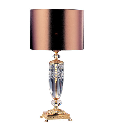 Allegri 10737-024 Portables 25 inch 40 watt 24K Gold Table Lamp Portable Light photo