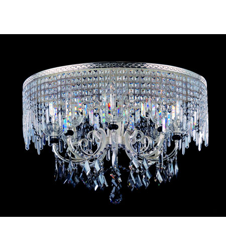 Allegri Gabrieli 6 Light Flush Mount in Two-tone Silver with Firenze Mixed Crystals 10816-017-FR000 photo