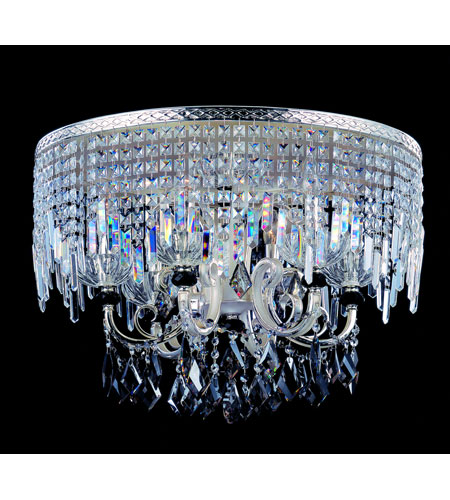 Allegri Gabrieli 8 Light Flush Mount in Two-tone Silver with Firenze Mixed Crystals 10817-017-FR000 photo