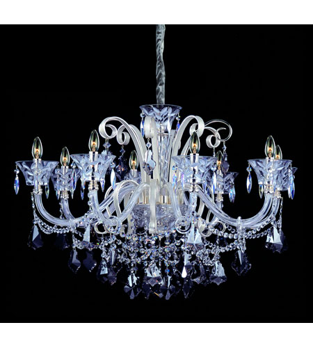 Allegri Pachelbel 8 Light Chandelier in Two-tone Silver with Firenze Mixed Crystals 10967-017-FR000 photo