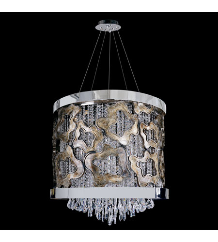 Allegri Caravaggio 9 Light Pendant in Chrome with Firenze Clear Crystals 11119-010-FR001 photo