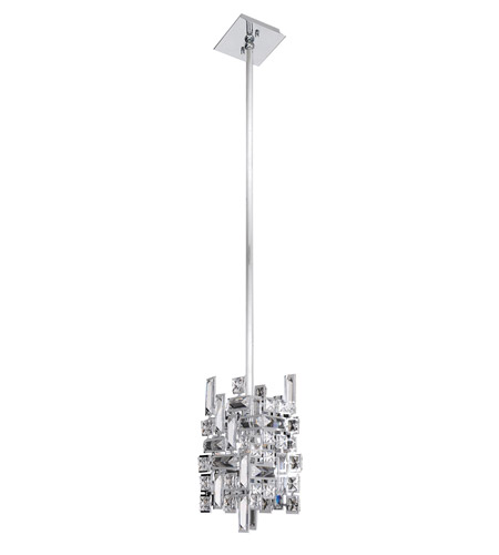 Allegri 11195-010-FR001 Vermeer 1 Light 5 inch Chrome Mini Pendant Ceiling Light  photo