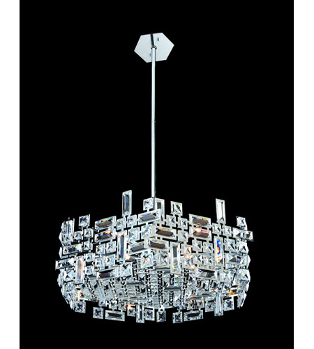 Allegri 11197-010-FR001 Vermeer 6 Light 24 inch Chrome Pendant Ceiling Light photo