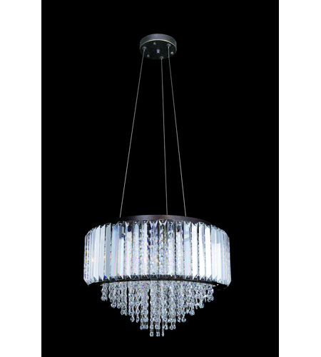 Allegri Adaliz 4 Light Pendant in Sienna Bronze with Swarovski Elements Clear Crystals 11237-013-SE001 photo