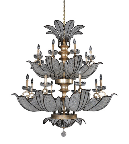 Allegri 11259-028-FR001 Tiepolo 16 Light 51 inch Silver Leaf SB Chandelier Ceiling Light in Firenze Clear photo