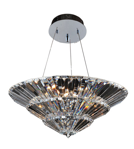 Allegri 11427-010-FR001 Auletta 15 Light 30 inch Chrome Flush Mount Ceiling Light photo