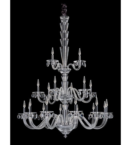 Allegri 11520-010-FR001 Fanshawe 21 Light 52 inch Chrome Chandelier Ceiling Light in Firenze Clear photo