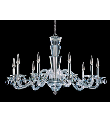 Allegri 11529-010-FR001 Fanshawe 9 Light 39 inch Chrome Chandelier Ceiling Light in Firenze Clear photo