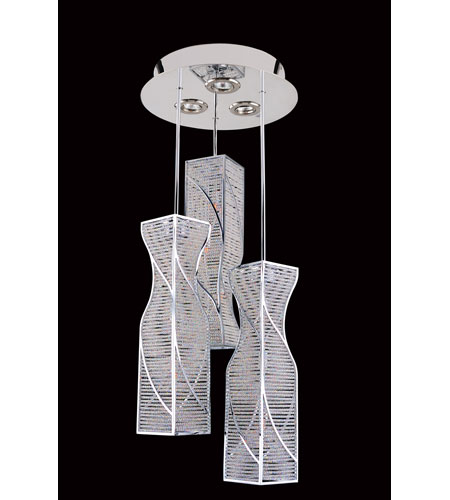 Allegri 11646-010-FR001 Toressano 12 Light 16 inch Chrome Flush Mount Ceiling Light photo
