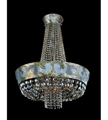 Allegri Romanov 11 Light Chandelier in Antique Silver Leaf with Firenze Clear Crystals 11657-006-FR001 photo