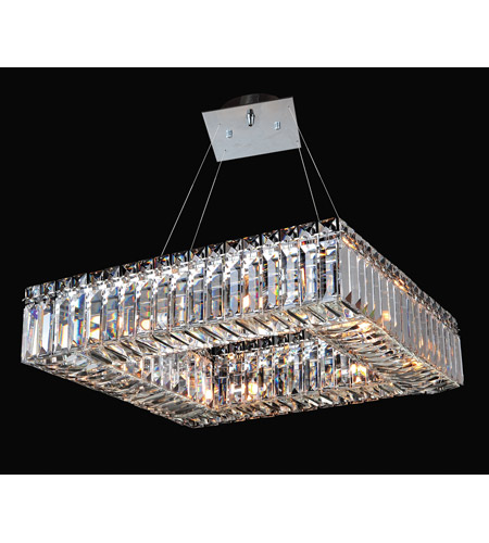 Allegri 11710-010-FR001 Quadro 8 Light 48 inch Chrome Pendant Ceiling Light photo