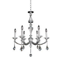 Floridia 6 Light 27 inch Polished Chrome Chandelier Ceiling Light