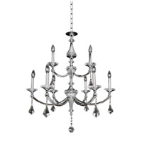 Allegri Floridia 9 Light Chandelier in Polished Chrome 012172-010-FR001