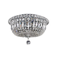 Betti 6 Light 14 inch Chrome Flush Mount Ceiling Light