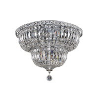 Betti 12 Light 18 inch Chrome Flush Mount Ceiling Light
