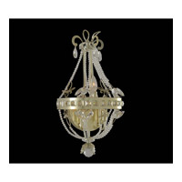 Orleans 3 Light 12 inch Champagne Silver Leaf Wall Bracket Wall Light