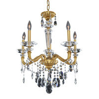 Allegri 021770-032-FR001 Jolivet 5 Light 24 inch Historic Brass Chandelier Ceiling Light