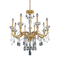 Allegri 021771-032-FR001 Jolivet 8 Light 30 inch Historic Brass Chandelier Ceiling Light