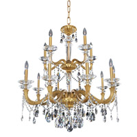 Allegri 021772-032-FR001 Jolivet 15 Light 36 inch Historic Brass Chandelier Ceiling Light
