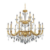 Allegri Jolivet 18 Light Chandelier in Historic Brass 021773-032-FR001