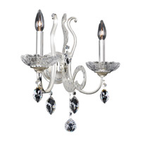 Titian 2 Light Two-Tone Silver Wall Bracket Wall Light