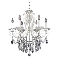 Titian 6 Light 25 inch Two-Tone Silver Chandelier Ceiling Light