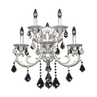 Rafael 5 Light Two-Tone Silver Wall Bracket Wall Light in Firenze Clear