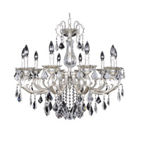 Rafael 10 Light 31 inch Two-Tone Silver Chandelier Ceiling Light in Firenze Clear
